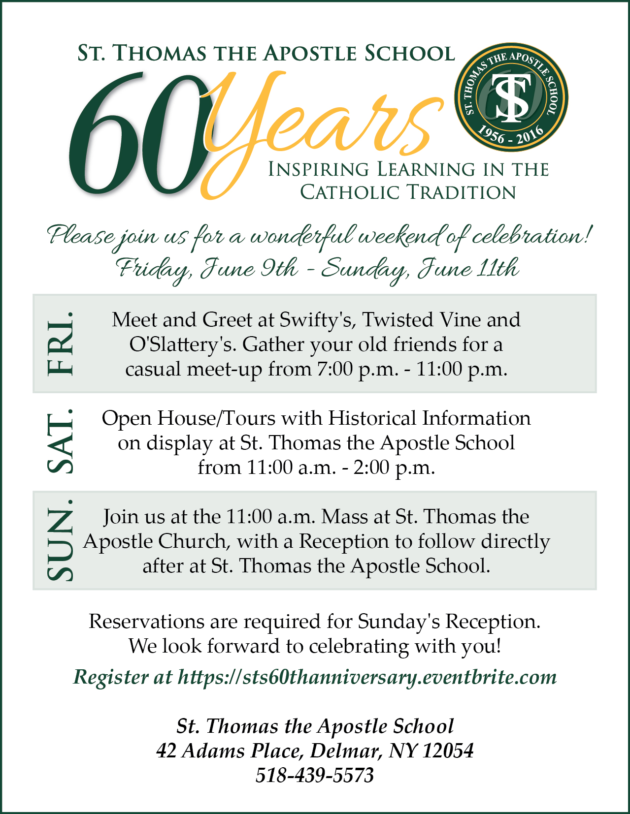 St. Thomas the Apostle School 60th Anniversary Weekend